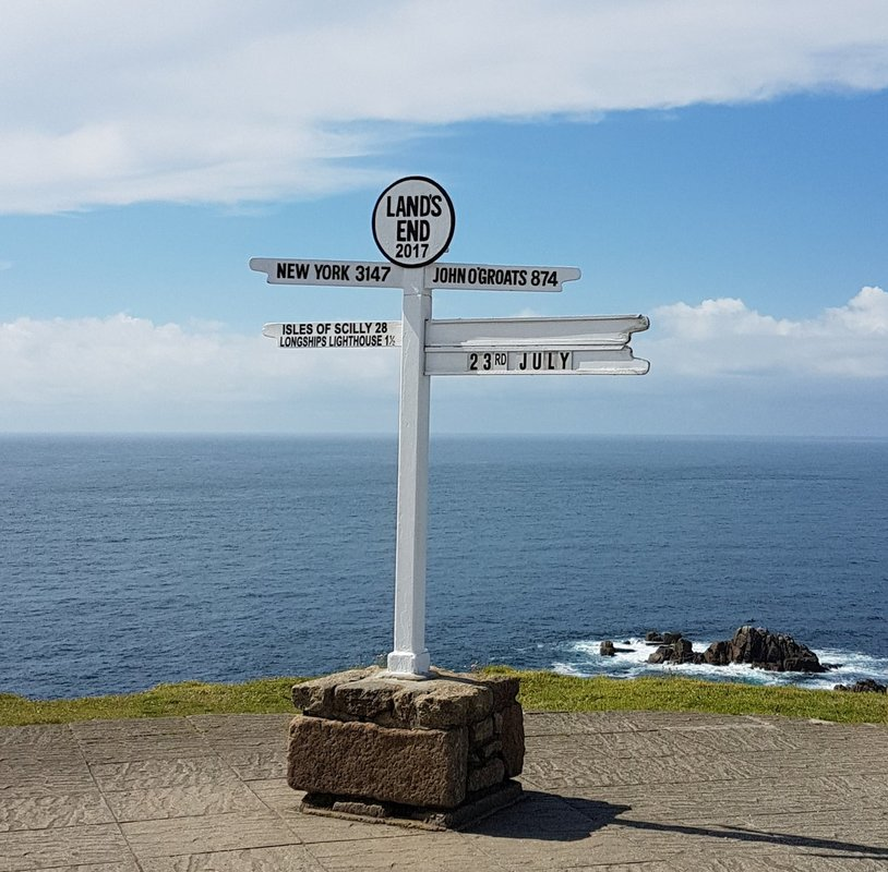Lands End Schilder Unterwegs in Cornwall