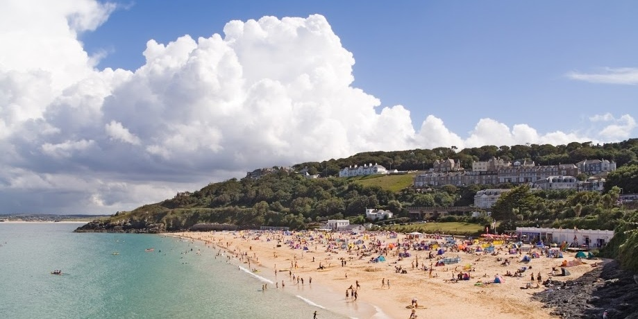 Porthminster Strand in St Ives